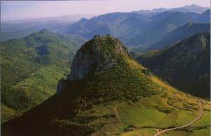 Luftbild.Montsegur