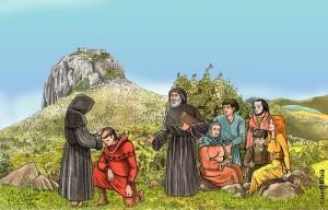 Parfaits, Purs bzw.Hohepriester der Katharer bei der täglichen Arbeit