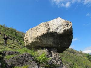 Der Dolmen von Lapége auf 1200m Höhe wiegt ca. 150 t